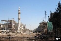 Район Дахания к юго-востоку от Дамаска – одно из мест ожесточенных боев правительственных войск с отрядами оппозиции