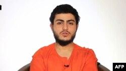 Кадр видео ИГ с молодым человеком, называющим себя 19-летним гражданином Израиля Мухамедом Саидом Исмаилом Мусалламом.