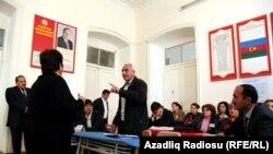 На избирательном пункте в Азербайджане