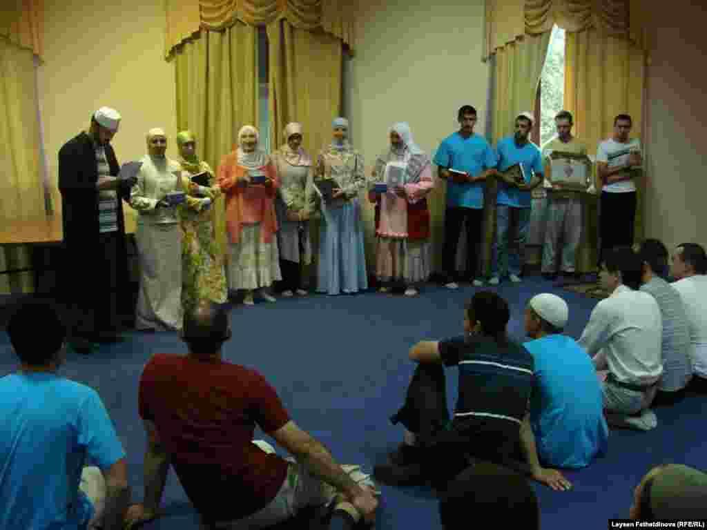 Kazan, Russia - The festival of Muslim Youth in Kazan, 17.07.11 - Коръән уку бәйгесен йомгаклау