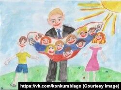 «Путін – багатодітний батько всієї Русі». Таким його бачить 8-річна Марина Боброва