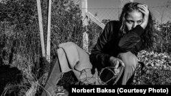 A photo from Norbert Baksa's Der Migrant shoot