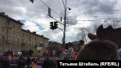 """Колонна """"Всешествия"""", акции, организованной властями Новосибирска"""