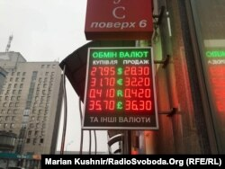 Курс валют в обміннику у Києві, 26 листопада 2018