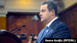 Ivica Dačić na zasedanju o refomi Vlade, avgust 2013.