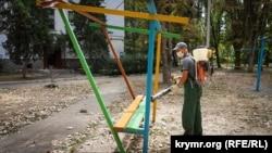 Обработка детской площадки - 3 сентября