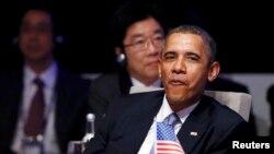 الرئيس باراك أوباما في قمة لاهاي - 24 آذار 2014
