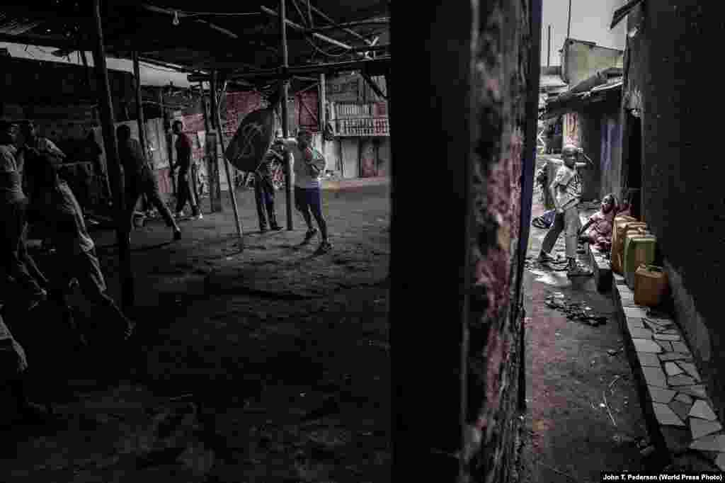 Boxer Moreen Ajambo trains at the Rhino boxing club in Katanga, a large slum settlement in Kampala, Uganda, on March 24, 2018. Sports: First Prize, Singles - John T. Pedersen