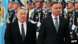 Қазақстан президенті Нұрсұлтан Назарбаев пен Польша президенті Анджей Дуда. Астана, 6 қыркүйек 2017 жыл.