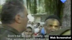 Ratko Mladić u Potočarima