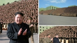 Ким Чен Ын жана анын аскерлери.