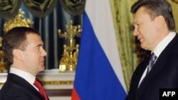 Presidenti rus, Dmitri Medvedev, dhe ai i Ukrainës, Viktor Janukoviq