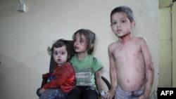 Сүриядә яралы балалар табиплар ярдәме көтә