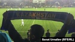 На матче между молодежными сборными по футболу Казахстана и Англии. Актобе, 6 октября 2016 года.