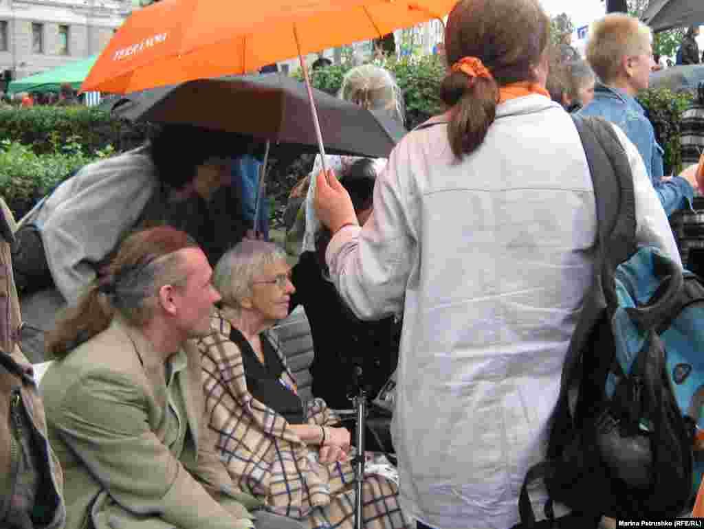 На митинге в защиту Химкинского леса, август 2010