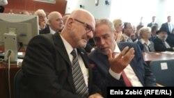 Ilan Mor, izraelski ambasador u Hrvatskoj, i Milan Bandić, gradonačelnik Zagreba
