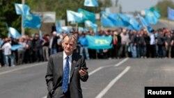 Мирна акція зустрічі національного лідера кримських татар Мустафи Джемілєва, що відбулася 3 травня 2014 року в Армянську