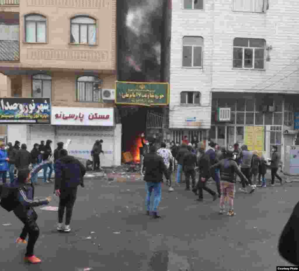حمله به یک پایگاه بسیج در تهران