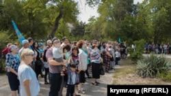 Траурное мероприятие в Керчи в честь 75 годовщины депортации крымких татар