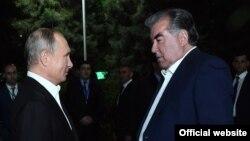 Владимир Путин и Эмомали Рахмон, Душанбе, 27 сентября 2018 года