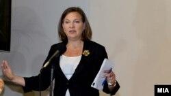 Viktoria Nuland, ndihmës sekretarja e shtetit amerikan, e cila do të zhvillojë sot takime për krizën në Ukrainë.