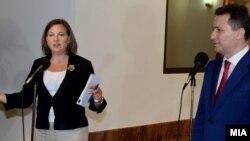 Средба на премиерот Никола Груевски со американскиот помошник државен секретар за eвропски и eвроазиски работи Викторија Нуланд.