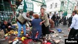 Мощность взрывного устройства, сработавшего возле центрального городского рынка, составляла 25-30 кг в тротиловом эквиваленте