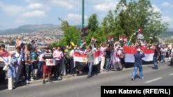Protest Egipćana u Sarajevu