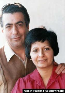Iranian rights activist and lawyer Mehrangiz Kar and her husband Siamak Pourzand, Undated.