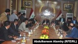إجتماع أعضاء لجنة النفط والطاقة النيابية مع مجلس محافظة البصرة
