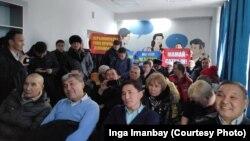 Демпартия құрғысы келетін топтың жиыны. Қарағанды, 24 қараша 2019 жыл.