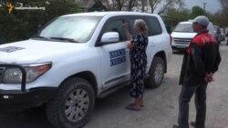 Жителька Саханки незадоволена роботою ОБСЄ і російського генерала