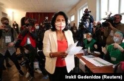 حضور رئیسجمهور گرجستان در انتخابات پارلمانی ۳۱ اکتبر