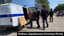 Митинг в Охе (Сахалин). Задержание активиста