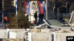 Возведенные сербами баррикады
