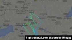 Fly Dubai - авиакомпаниялъул бортараб боржароялъул траектория.