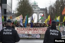 Курдская демонстрация в Брюсселе. Март 2016 года