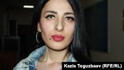 Виктория Беркходжаева после заседания суда. Алматинская область, 6 марта 2020 года.