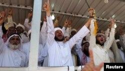منصة قيادة التظاهرات في الأنبار