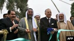 أمين عام منظمة المؤتمر الإسلامي أكمل الدين إحسنأوغلو أثناء إفتتاح مكتب المنظمة في بغداد