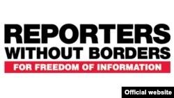 Reporters Without Borders ұйымының логотипі (Көрнекі сурет).