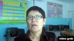 Асия Оспанова, директор школы № 23 села Тонкерис. Алматинская область, 5 сентября 2014 года.