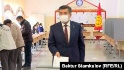 Prezident Sooronbai Jeenbekow ses berýär. Bişkek, 4-nji oktýabr, 2020.