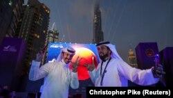 """Radost u Ujedinjenim Arapskim Emiratima zbog ulaska sonde """"Nada"""" u Marsovu orbitu, Dubai, 9. februar 2021."""