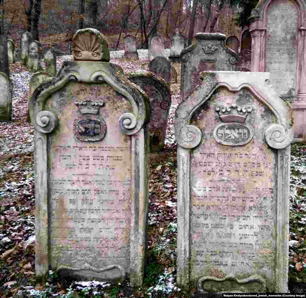 Snow-dusted graves in an Austrian forest. In less than a year since launching his project, Kiraly has accrued nearly 10,000 followers on Instagram, many of whom comment to share their knowledge of Hebrew and Jewish symbology.