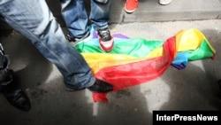 ჰომოფობიასთან ბრძოლის დღე თბილისში. 2012 წლის 17 მაისი