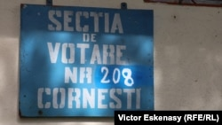 Qendër votimi në Rumani