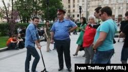 Илья Яшин в лагере оппозиции на Кудринской площади