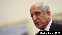 U.S. Special Representative for Afghanistan Reconciliation Zalmay Khalilzad attends the Intra Afghan Dialogue talks in the Qatari capital Doha on July 8.