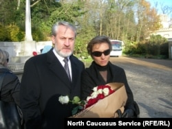 Ахмед Закаєв з Мариною Литвиненко, Лондон, 23 листопада 2007 року
